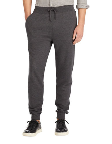 Polo Ralph Lauren Double Knit Jogger Pants-GREY-X-Large