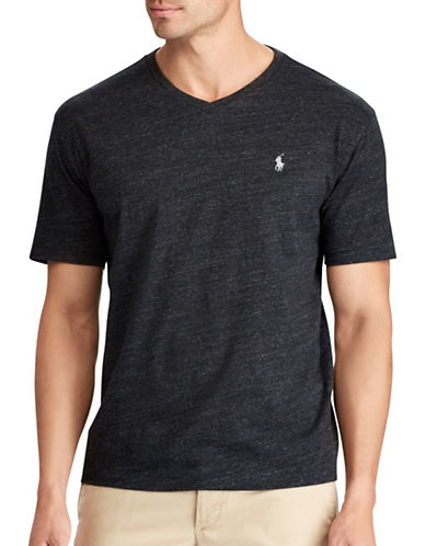 Polo Ralph Lauren Big and Tall Classic-Fit Cotton Tee-BLACK-Large Tall 89321549_BLACK_Large Tall