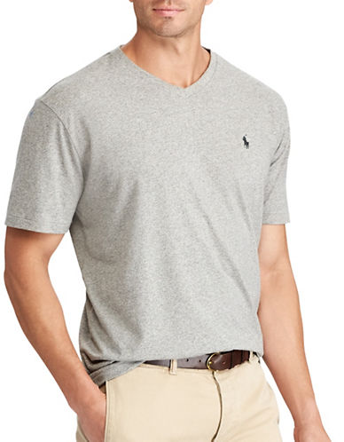 Polo Ralph Lauren Big and Tall Classic-Fit Cotton Tee-GREY-Large Tall
