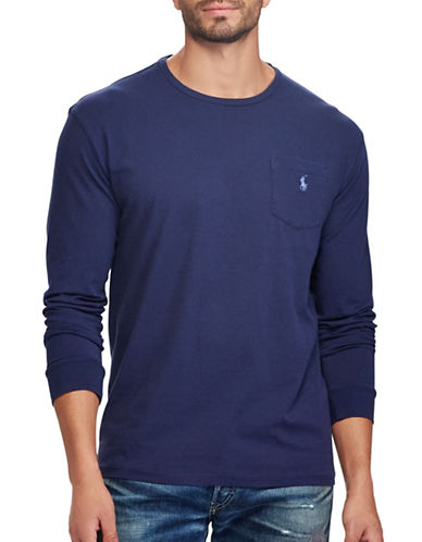 Polo Ralph Lauren Classic Fit Cotton T-Shirt-BLUE-1X Tall
