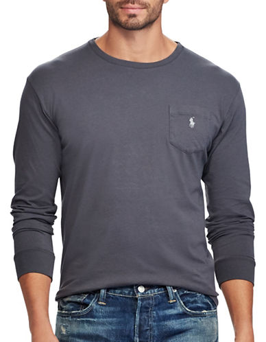 Polo Ralph Lauren Classic Fit Cotton T-Shirt-GREY-1X Big