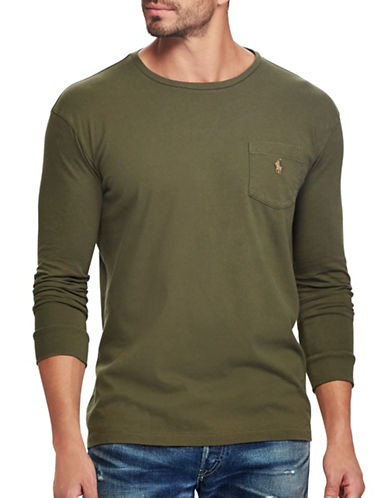 Polo Ralph Lauren Classic Fit Cotton T-Shirt-GREEN-4X Tall