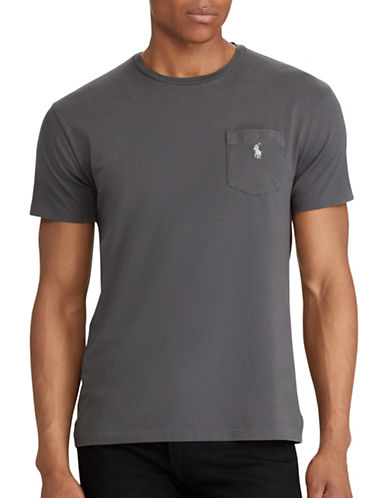 Polo Ralph Lauren Classic Fit Cotton Tee-GREY-5X Big