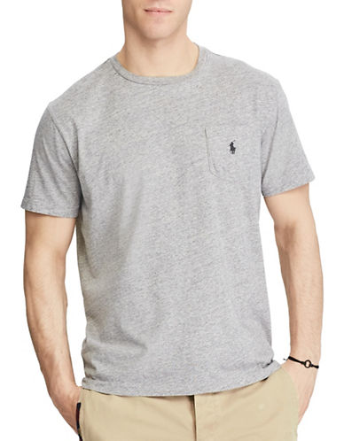 Polo Ralph Lauren Classic Fit Cotton Tee-LIGHT GREY-4X Big