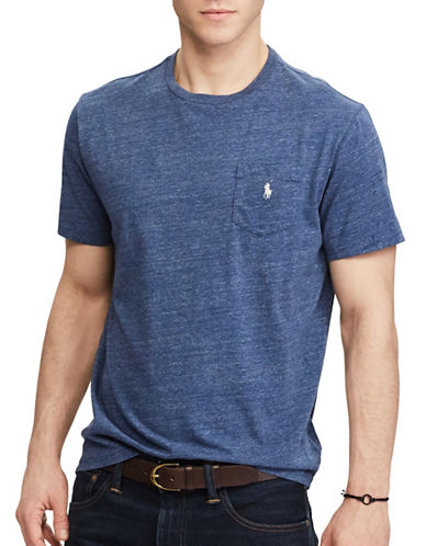 Polo Ralph Lauren Classic Fit Cotton Tee-BLUE-4X Tall
