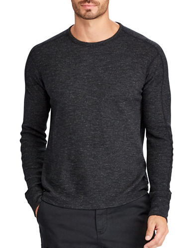 Polo Ralph Lauren Big and Tall Waffle-Knit Sweater-BLACK-4X Big