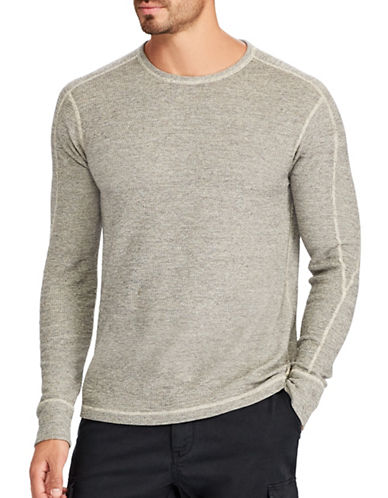 Polo Ralph Lauren Big and Tall Waffle-Knit Sweater-GREY-2X Big
