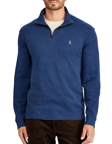 Polo Ralph Lauren Estate-Rib Cotton Pullover-BLUE-3X Big