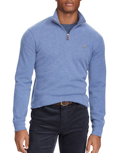 Polo Ralph Lauren Estate-Rib Cotton Pullover-BLUE-1X Tall