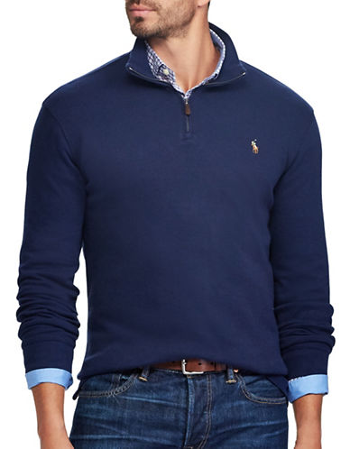 Polo Ralph Lauren Estate-Rib Cotton Pullover-FRENCH NAVY-4X Big
