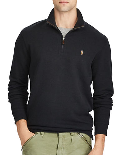 Polo Ralph Lauren Estate-Rib Cotton Pullover-BLACK-1X Big
