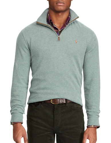 Polo Ralph Lauren Estate-Rib Cotton Pullover-GREEN-2X Big