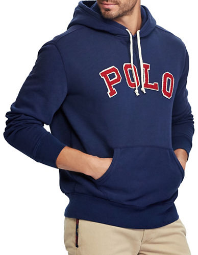 Polo Ralph Lauren Big and Tall Varsity Fleece Hoodie-NAVY-4X Tall