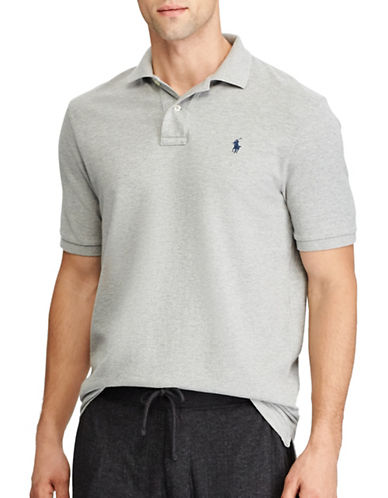 Polo Ralph Lauren Classic-Fit Weathered Mesh Polo-GREY-3X Big