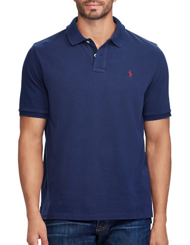 Polo Ralph Lauren Classic Fit Weathered Cotton Mesh Polo-BLUE-1X Tall