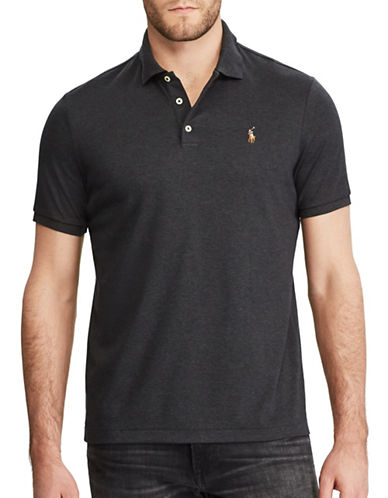 Polo Ralph Lauren Classic Fit Soft-Touch Polo-DARK GREY-3X Tall