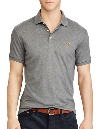 Polo Ralph Lauren Classic Fit Soft-Touch Polo-LIGHT GREY-1X Big