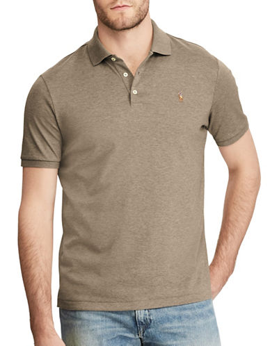 Polo Ralph Lauren Classic Fit Soft-Touch Polo-BROWN-3X Big