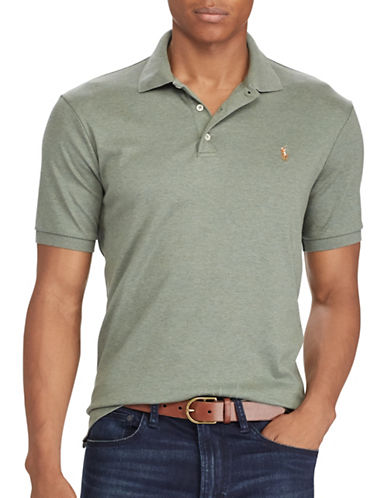 Polo Ralph Lauren Big and Tall Classic-Fit Soft-Touch Polo-GREEN-1X Big