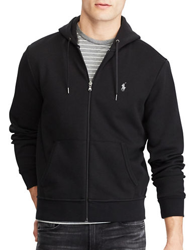 Polo Ralph Lauren Big and Tall Double-Knit Hoodie-BLACK-Large Tall