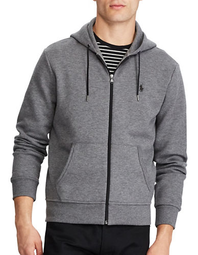 Polo Ralph Lauren Double-Knit Hoodie-GREY-1X Tall