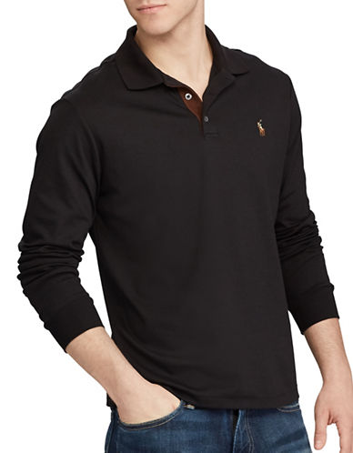 Polo Ralph Lauren Classic Fit Soft-Touch Polo-BLACK-Large Tall 89446723_BLACK_Large Tall