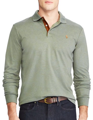 Polo Ralph Lauren Classic Fit Soft-Touch Polo-GREEN-1X Big