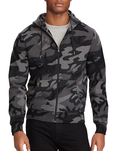 Polo Ralph Lauren Camo Double-Knit Hoodie-GREY-1X Tall