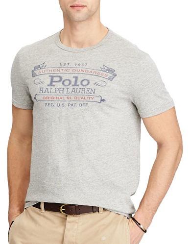 Polo Ralph Lauren Graphic Classic Fit Cotton Tee-GREY-5X Big
