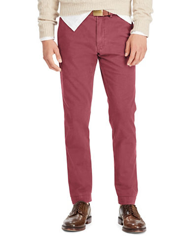 Polo Ralph Lauren Slim-Fit Cotton Chinos-RED-40X30