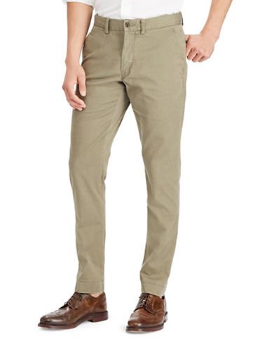 Polo Ralph Lauren Slim-Fit Cotton Chinos-GREEN-36X30