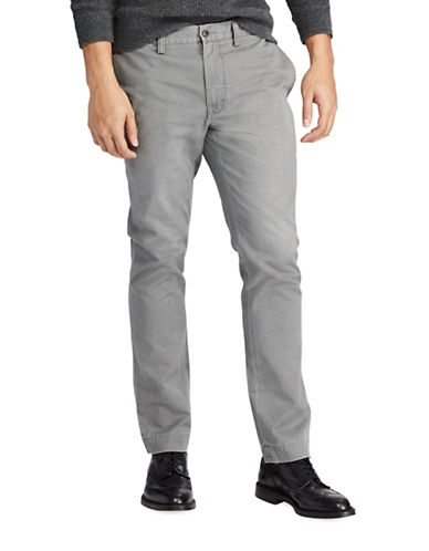 Polo Ralph Lauren Slim-Fit Cotton Chino Pants-GREY-32X32