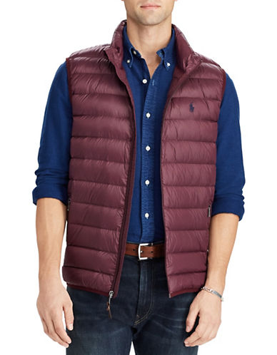 Polo Ralph Lauren Packable Down Vest-RED-Large