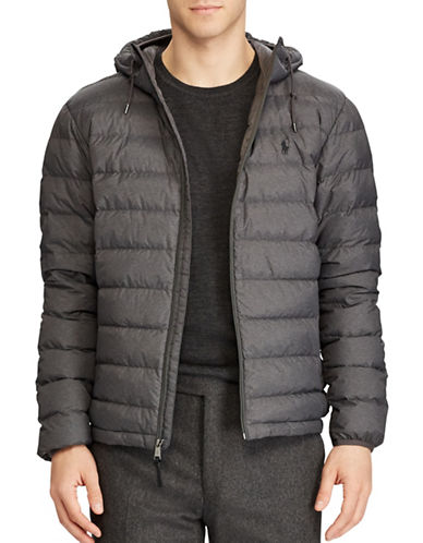 Polo Ralph Lauren Packable Hooded Down Jacket-GREY-Large