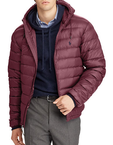 Polo Ralph Lauren Packable Hooded Down Jacket-RED-Medium