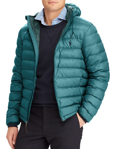 Polo Ralph Lauren Packable Down Puffer Hooded Jacket-GREEN-X-Large