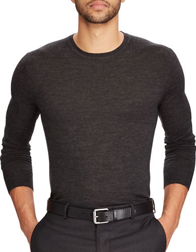 Polo Ralph Lauren Slim-Fit Washable Merino Wool Sweater-GREY-Small