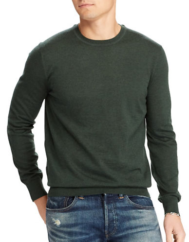 Polo Ralph Lauren Slim Fit Merino Wool Sweater-GREEN-Small