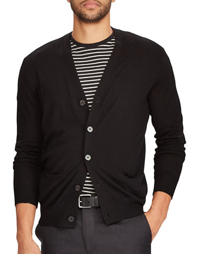Polo Ralph Lauren Long Sleeve V-Neck Cardigan-BLACK-Large 89449676_BLACK_Large