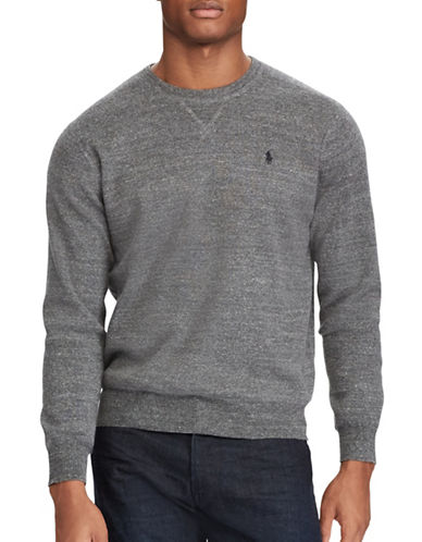 Polo Ralph Lauren Cotton Crewneck Marl Sweater-GREY-Small