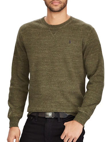 Polo Ralph Lauren Cotton Crewneck Marl Sweater-GREEN-Large