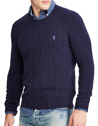 Polo Ralph Lauren Cable-Knit Sweater-NAVY-X-Large