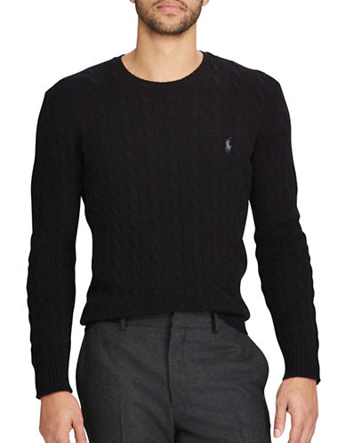 Polo Ralph Lauren Cable-Knit Sweater-BLACK-X-Large