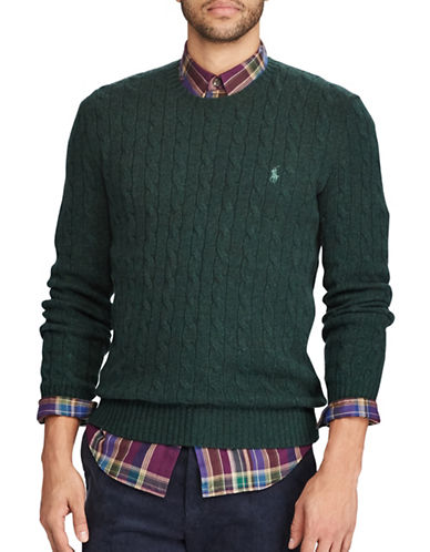 Polo Ralph Lauren Cable-Knit Sweater-GREEN-Medium