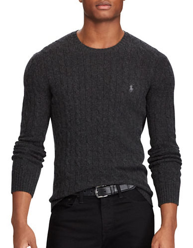 Polo Ralph Lauren Cable-Knit Sweater-DARK GREY-Small