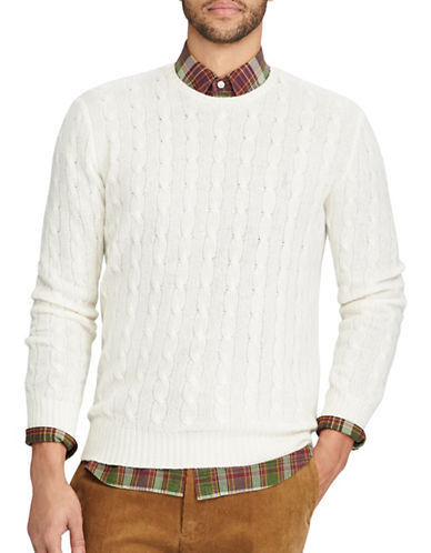Polo Ralph Lauren Cable-Knit Sweater-CREAM-Large