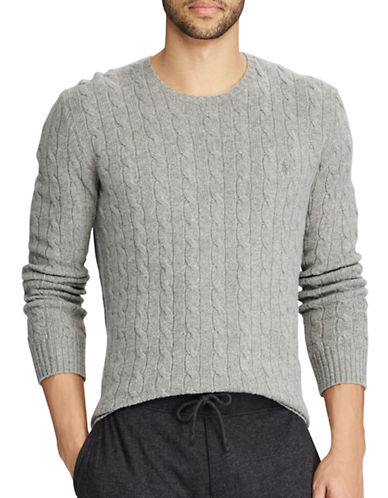 Polo Ralph Lauren Cable-Knit Sweater-GREY-Small