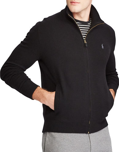 Polo Ralph Lauren Merino Wool Full-Zip Sweater-POLO BLACK-Small