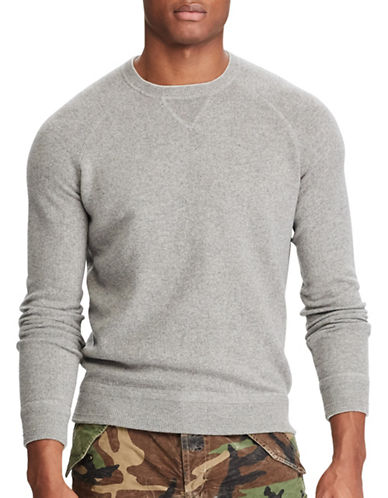 Polo Ralph Lauren Knitted Merino Wool Sweater-GREY-Large
