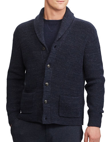 Polo Ralph Lauren Cotton Shawl Collar Cardigan-NAVY-X-Large